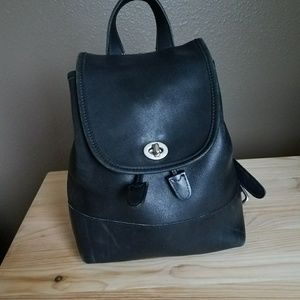 Vintage Coach Day pack Leather backpack